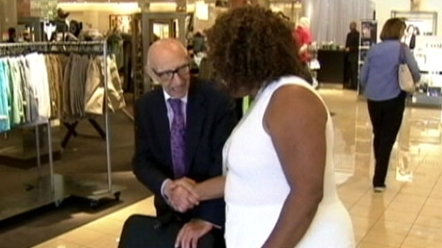 Nordstrom S Only Greeter Becomes A Centenarian Abc News