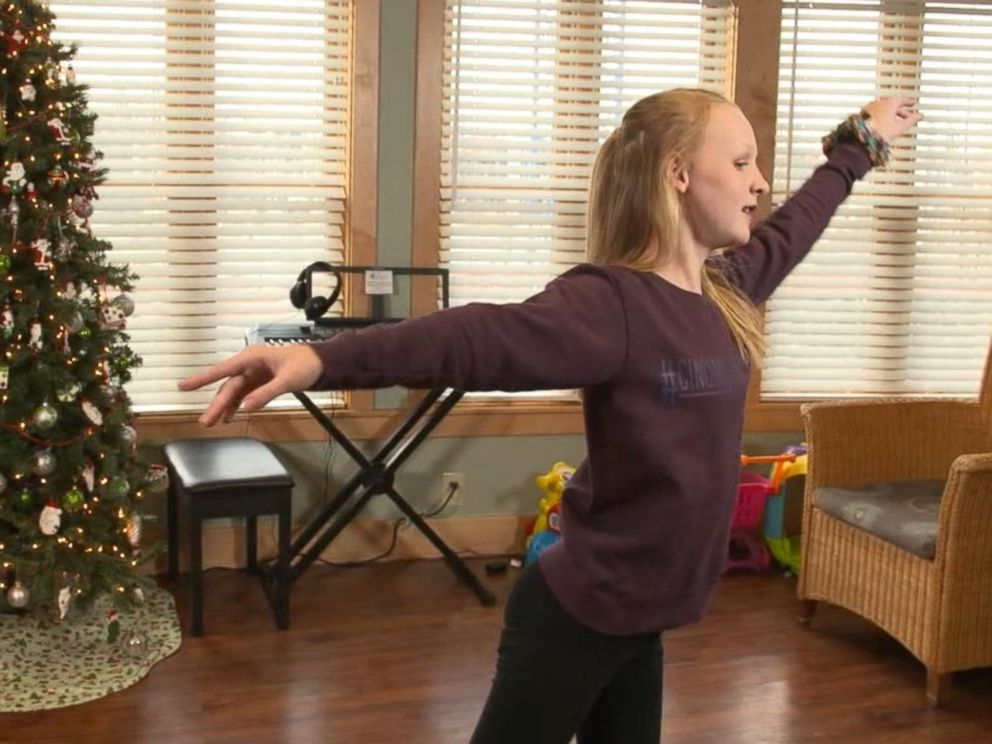 PHOTO: Attie Jamison, 14, starred in her schools production of The Nutcracker after undergoing surgery.