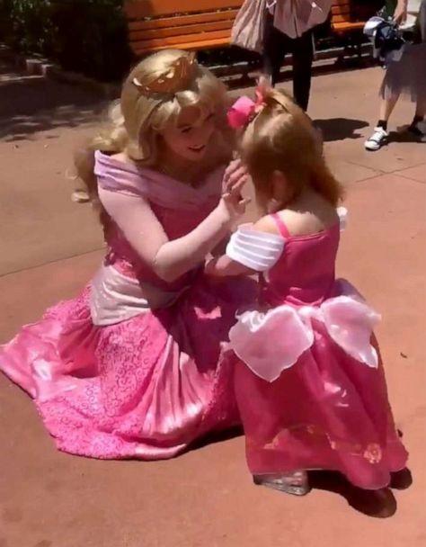 2 Year Old Named Aurora Runs To Greet Princess Aurora From