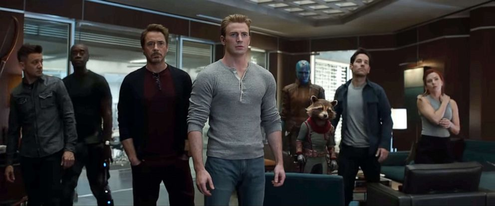PHOTO: This image grab made from video shows the cast of Avengers: Endgame.