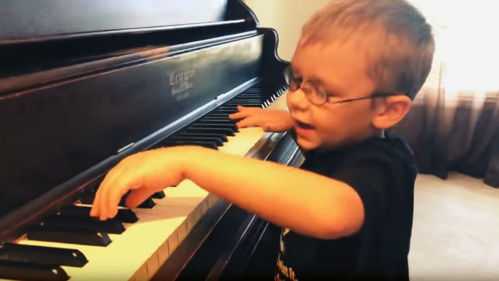 Avett Maness, 6, was born blind in one eye and vision impaired in the other, but that doesn't stop him from putting on concerts in his community.