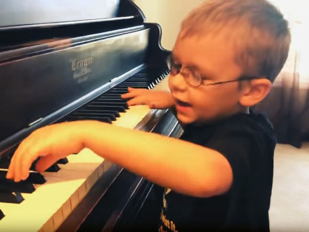 PHOTO: Avett Maness, 6, was born blind in one eye and vision impaired in the other, but that doesnt stop him from putting on concerts in his community.