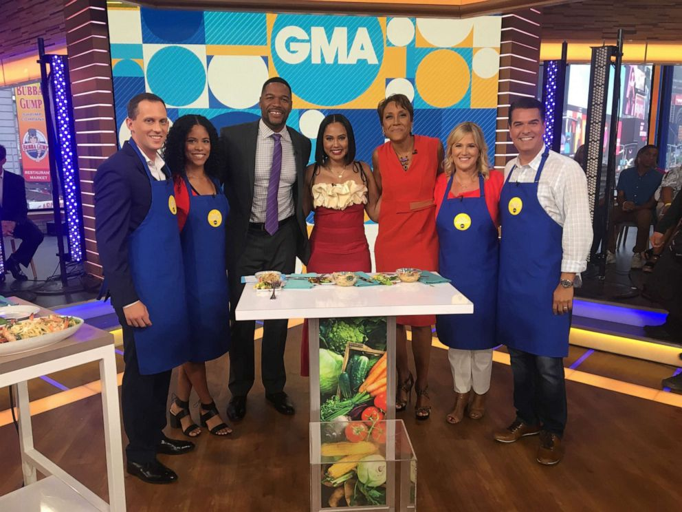 PHOTO: Family Food Fight host Ayesha Curry, center, appears on Good Morning America, June 18, 2019.