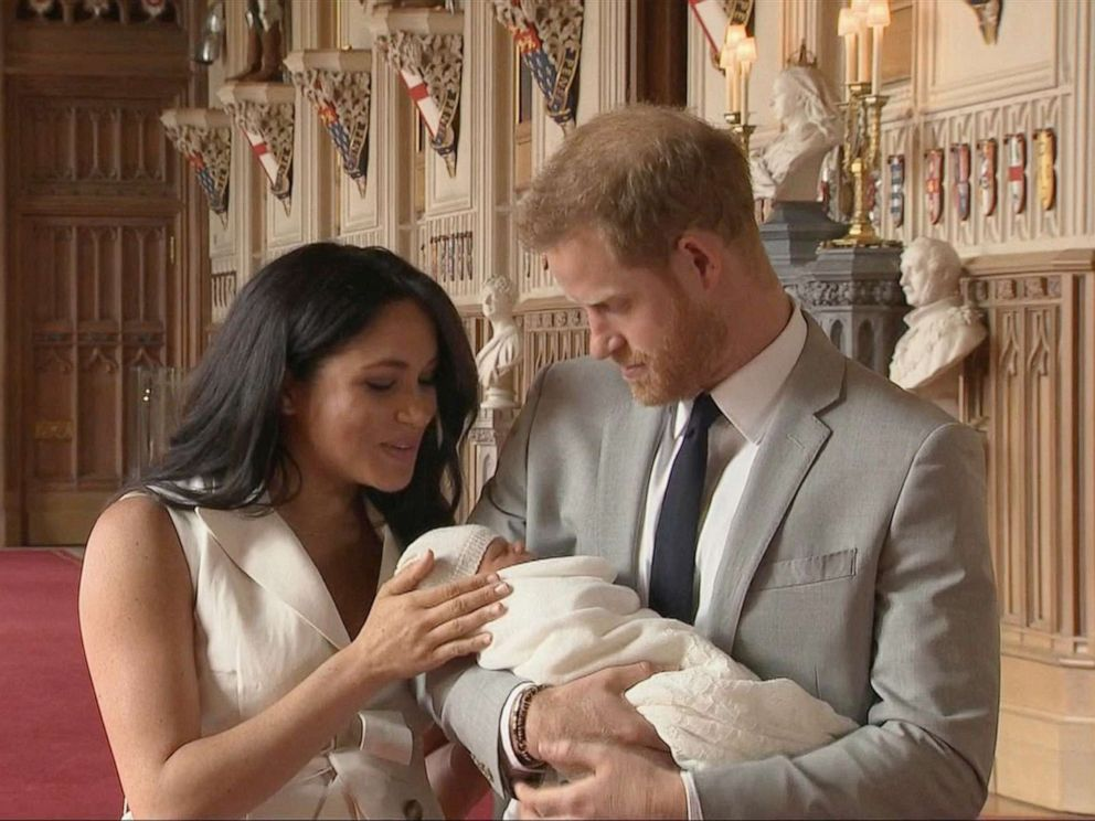 PHOTO: Prince Harry, Duke of Sussex and Meghan, Duchess of Sussex, with their newborn son, May 8, 2019.