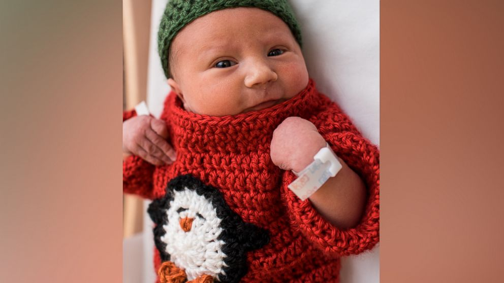 cbc008688 These newborn babies in 'ugly' Christmas sweaters truly make the ...