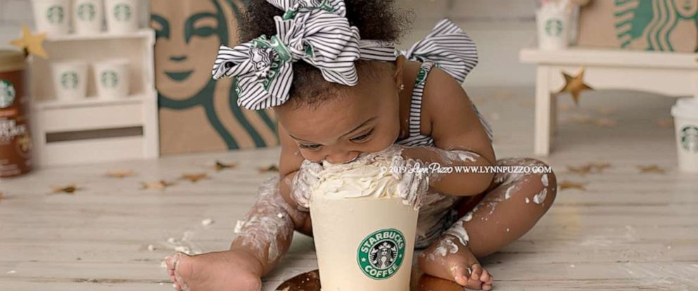 PHOTO: 11-month-old Aria Jade Dillon was the star of this Starbucks-themed photo shoot.