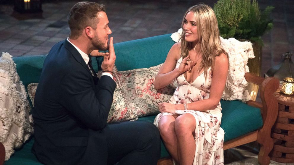 """Colton Underwood and Cassie appear on an episode of """"The Bachelor."""""""