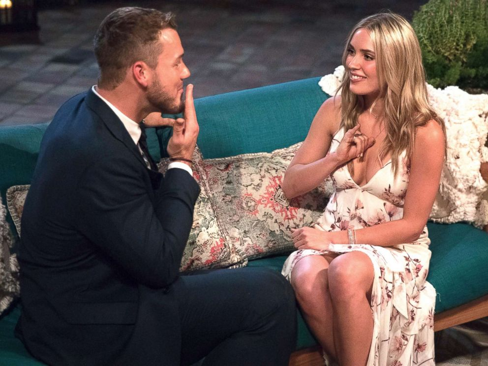 PHOTO: Colton Underwood and Cassie appear on an episode of The Bachelor.