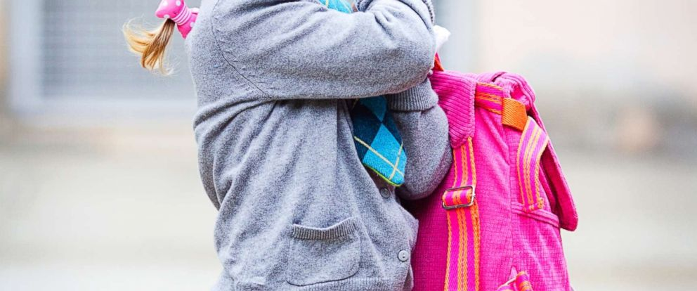 PHOTO: A girl holds her backpack in this undated stock photo.