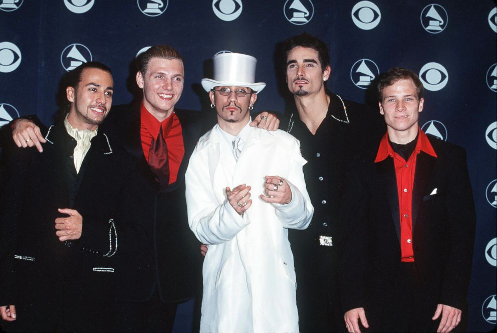 PHOTO: The Backstreet Boys attend the 41st annual Grammy awards, Feb. 24, 1999, in Los Angeles.