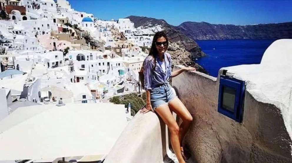 PHOTO: Bailey Matheson poses during a trip to Greece.