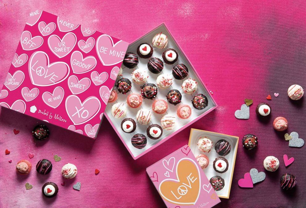 PHOTO: Baked by Melissa has limited edition mini cupcakes just for Valentines Day.