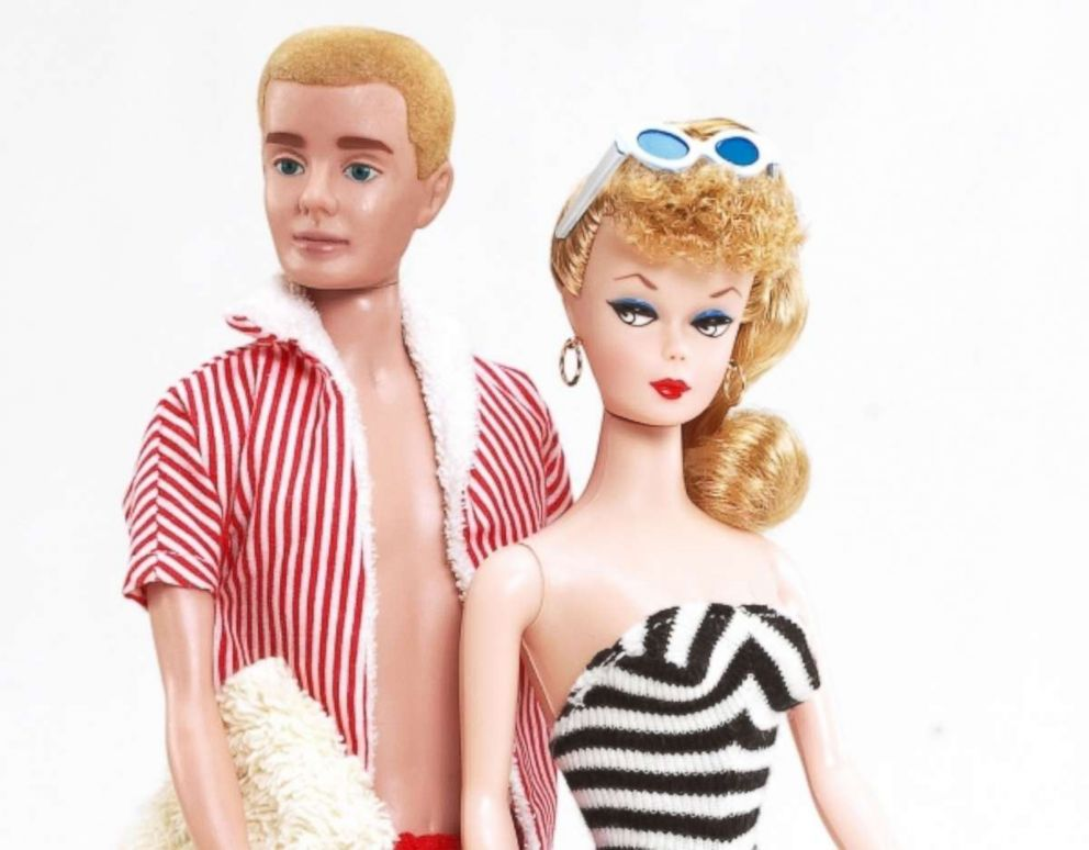 PHOTO: Seen here is a photo of the 1960s-style Barbie and Ken made by American toy company, Mattel.