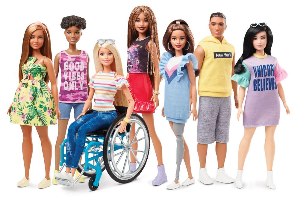 PHOTO: In 2019, Mattel has announced its adding new braid hair texture, a new body type for Barbie and dolls reflecting permanent physical disabilities.