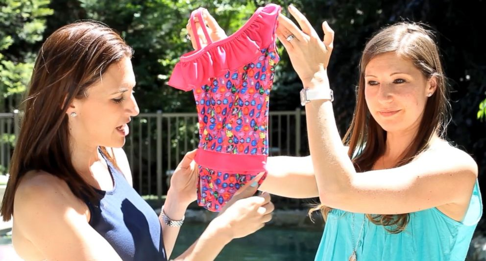 PHOTO: Jill Slater and Alexis Castellano of New Jersey, created a revolutionary bathing suit thatll change any parents life who has a daughter that swims.