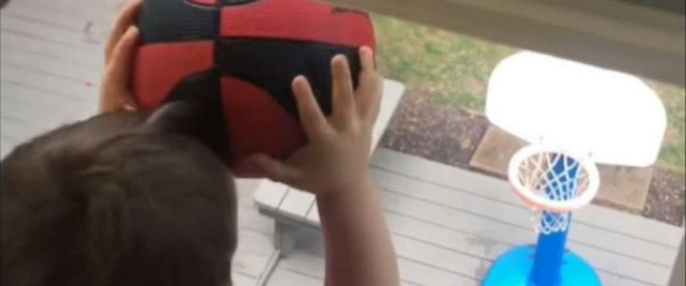 PHOTO: Calvin Shannon, 4, and his YouTube compilations showing his basketball skills are a must-see.