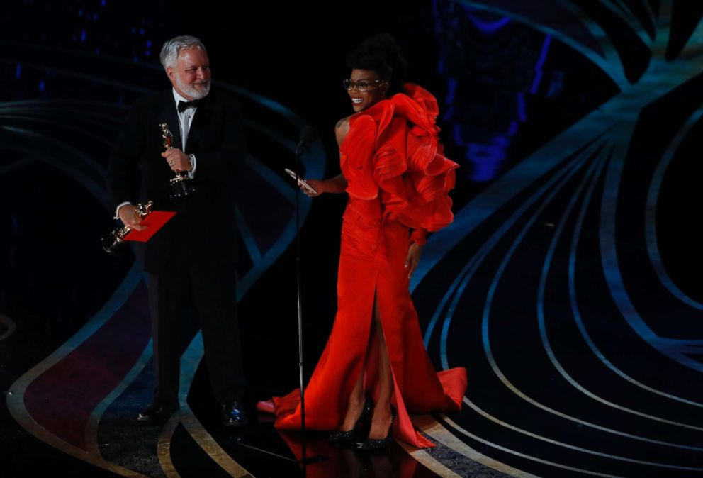 PHOTO: Hannah Beachler and Jay Hart accept the Best Production Design award for Black Panther at the 91st Academy Awards, Feb. 24, 2019.