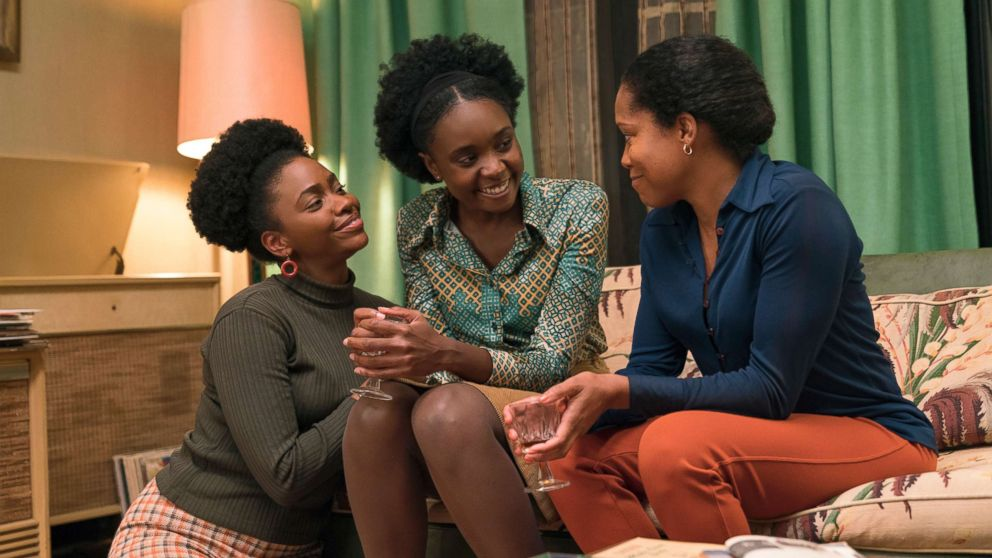 """Teyonah Parris, left, KiKi Layne and Regina King in a scene from """"If Beale Street Could Talk."""""""