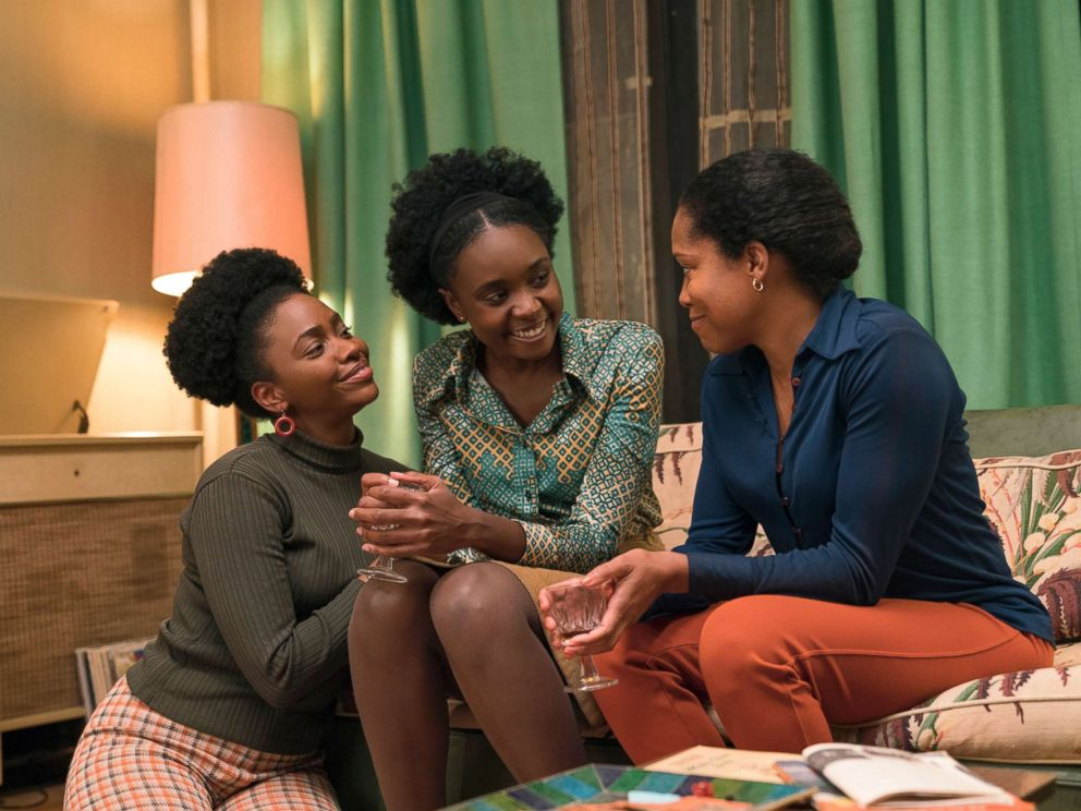 PHOTO: Teyonah Parris, left, KiKi Layne and Regina King in a scene from If Beale Street Could Talk.