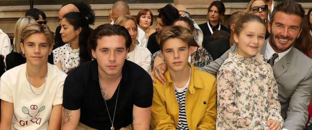 PHOTO:Romeo Beckham, Brooklyn Beckham, Cruz Beckham, Harper Beckham and David Beckham attend the Victoria Beckham show during London Fashion Week September 2019 at British Foreign and Commonwealth Office on Sept. 15, 2019 in London.