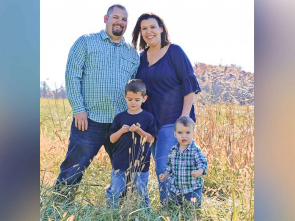 PHOTO: Becky and Jim Sykes of West Virginia and their two sons, 5-year-old Nate and nearly 2-year-old Anthony, are pictured in an undated handout photo.