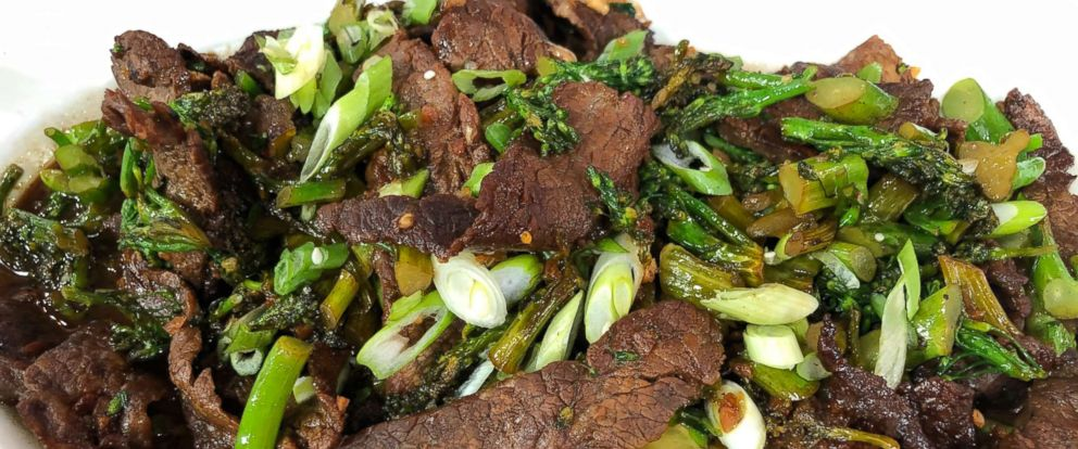 PHOTO: Chef Dan Churchills Mongolian beef and broccoli