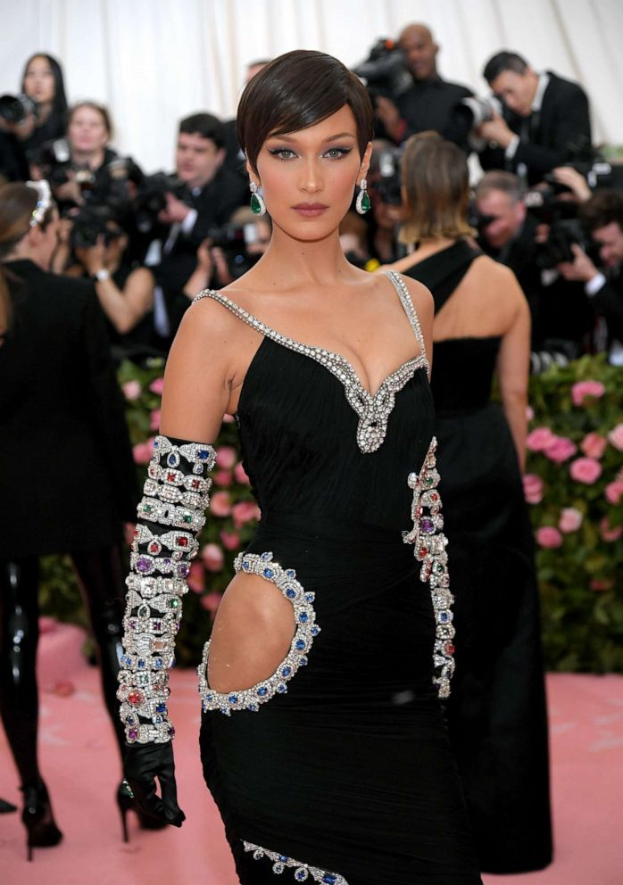 PHOTO: Bella Hadid attends the 2019 Met Gala Celebrating Camp: Notes on Fashion at the Metropolitan Museum of Art, May 6, 2019, in New York City.