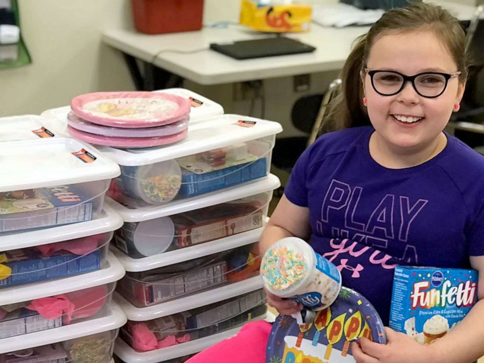 PHOTO: Bella Smith, 9, launched Bellas Boxes when she was in 1st grade after learning there were kids at her school that couldnt afford to have a birthday party.