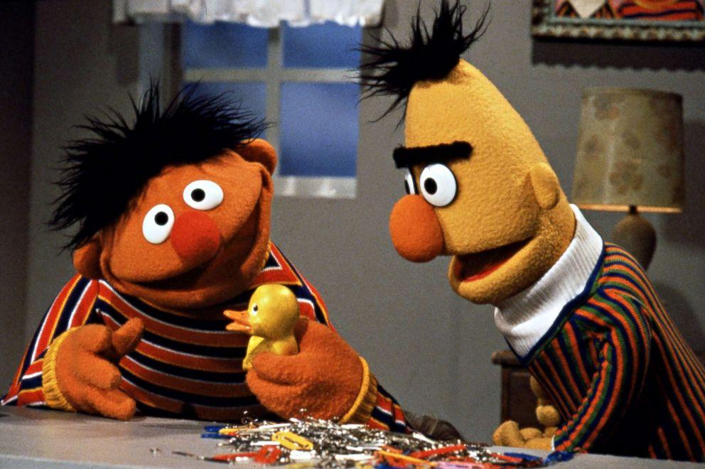 PHOTO: Bert and Ernie on Sesame Street.