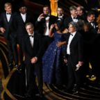 """The best picture award for """"Green Book"""" at the 91st Academy in Los Angeles Awards, Feb. 24, 2019."""