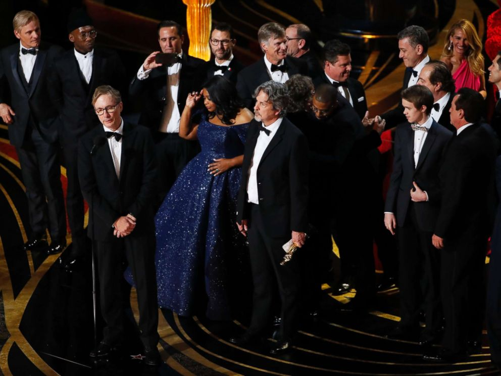 PHOTO: The best picture award for Green Book at the 91st Academy in Los Angeles Awards, Feb. 24, 2019.