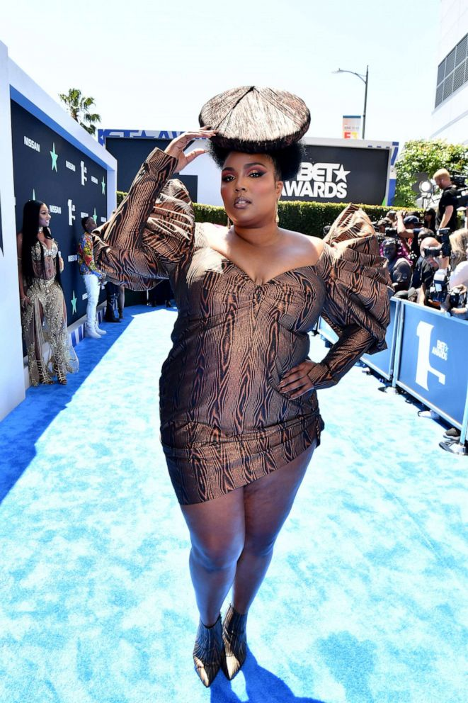 PHOTO: Lizzo attends the 2019 BET Awards at Microsoft Theater on June 23, 2019, in Los Angeles.
