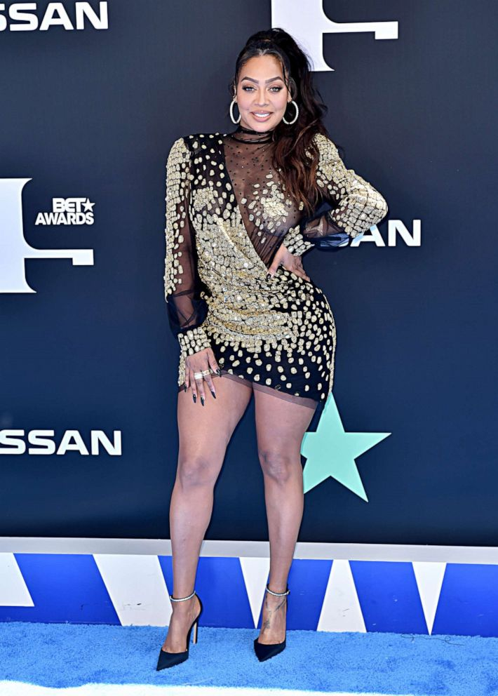 PHOTO: La La Anthony attends the 2019 BET Awards at Microsoft Theater on June 23, 2019, in Los Angeles.