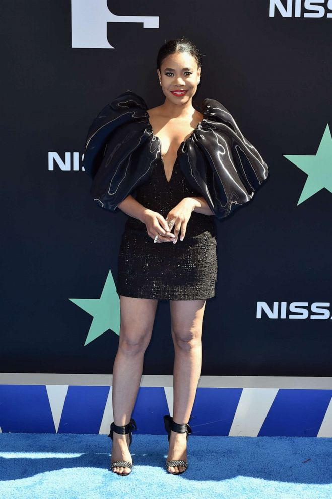 PHOTO: Host Regina Hall attends the 2019 BET Awards at Microsoft Theater on June 23, 2019, in Los Angeles.