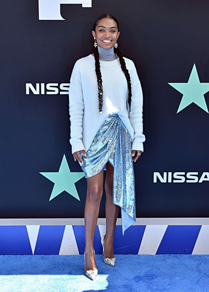 PHOTO: Yara Shahidi attends the 2019 BET Awards at Microsoft Theater on June 23, 2019, in Los Angeles.