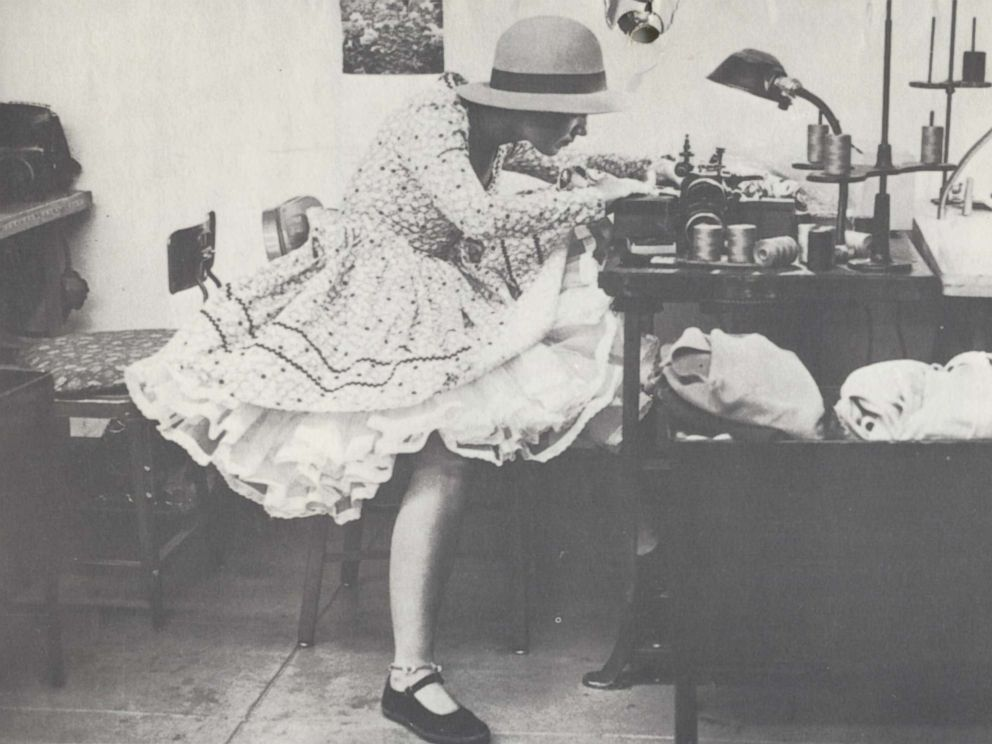 PHOTO: Im a sewing lady! This is what I love, making clothes, Betsey Johnson says about this photo of her making doll clothes in her mid-twenties, circa 1960s.