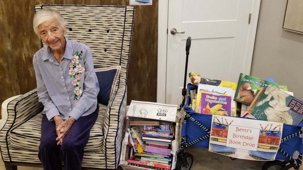 104-year-old woman celebrates birthday with a book drive to collect 104 children's books
