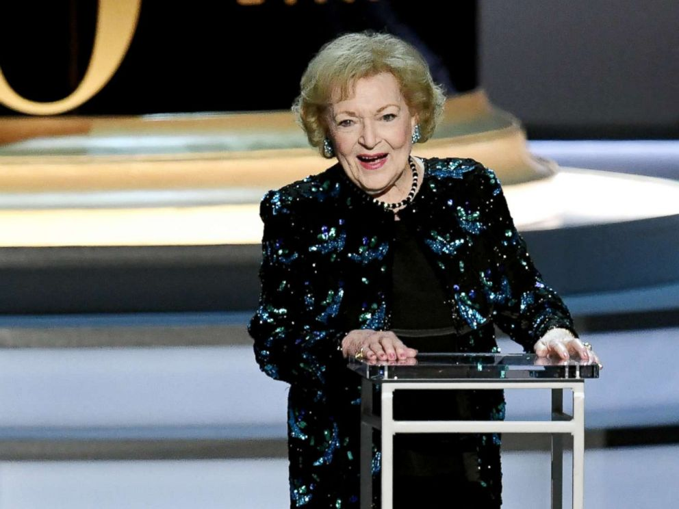 PHOTO: Betty White speaks during the 70th Emmy Awards on Sept. 17, 2018, in Los Angeles.