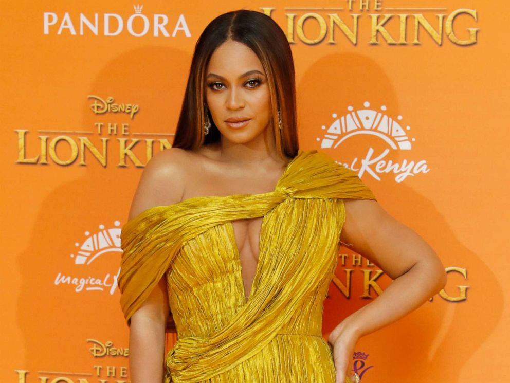PHOTO: Beyonce Knowles-Carter attends the European Premiere of The Lion King at Odeon Luxe Leicester Square on July 14, 2019 in London, England.