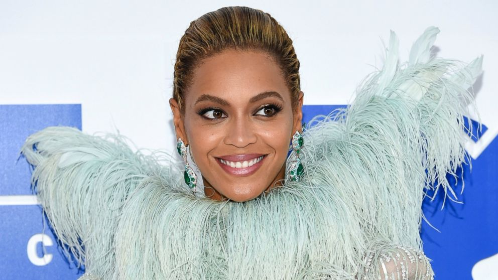 In this Aug. 28, 2016 file photo, Beyonce Knowles arrives at the MTV Video Music Awards at Madison Square Garden, in New York.