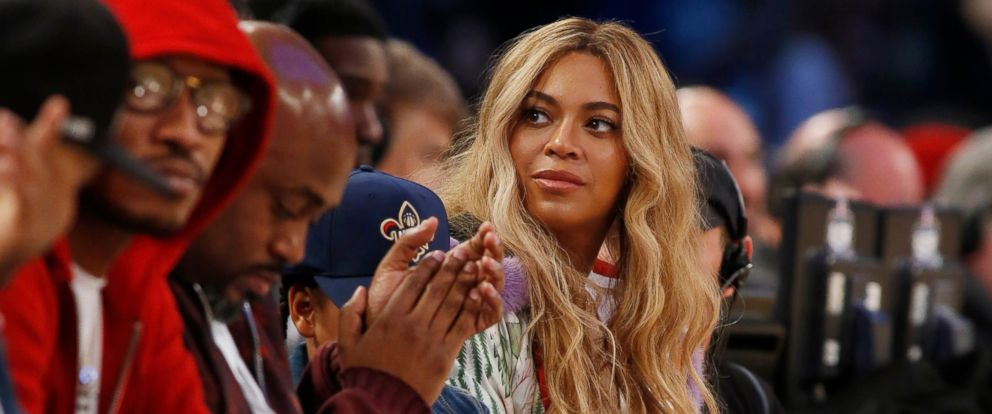 PHOTO: In this Feb. 19, 2017. file photo, Beyonce sits at court side during the second half of the NBA All-Star basketball game in New Orleans.