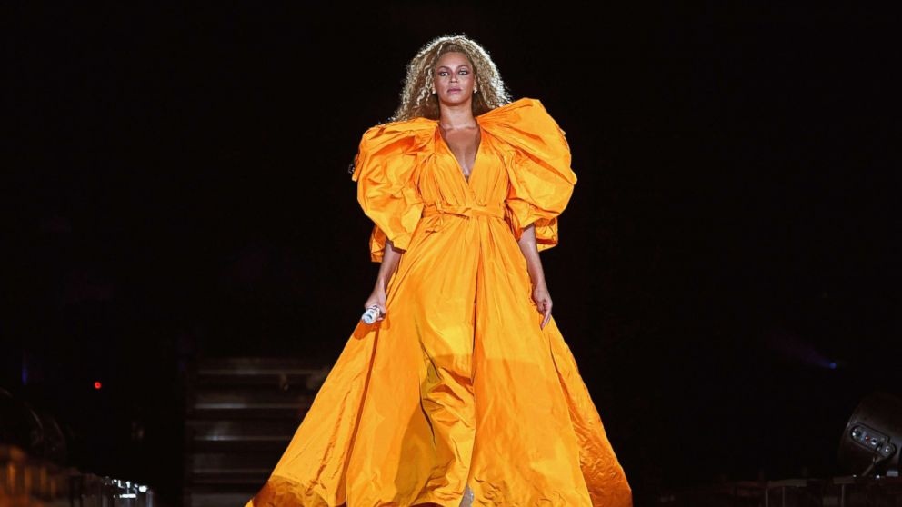 """Beyonce performs onstage during the """"On The Run II"""" Tour at MetLife Stadium, Aug. 2, 2018, in East Rutherford, N.J."""