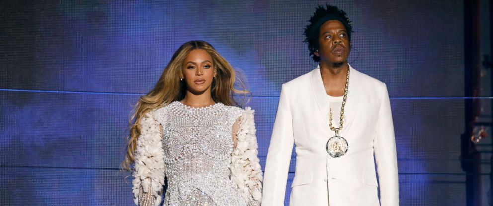 """PHOTO: Beyonce and Jay-Z perform during their """"On The Run II"""" tour in Arlington, Va., Sept. 11, 2018."""
