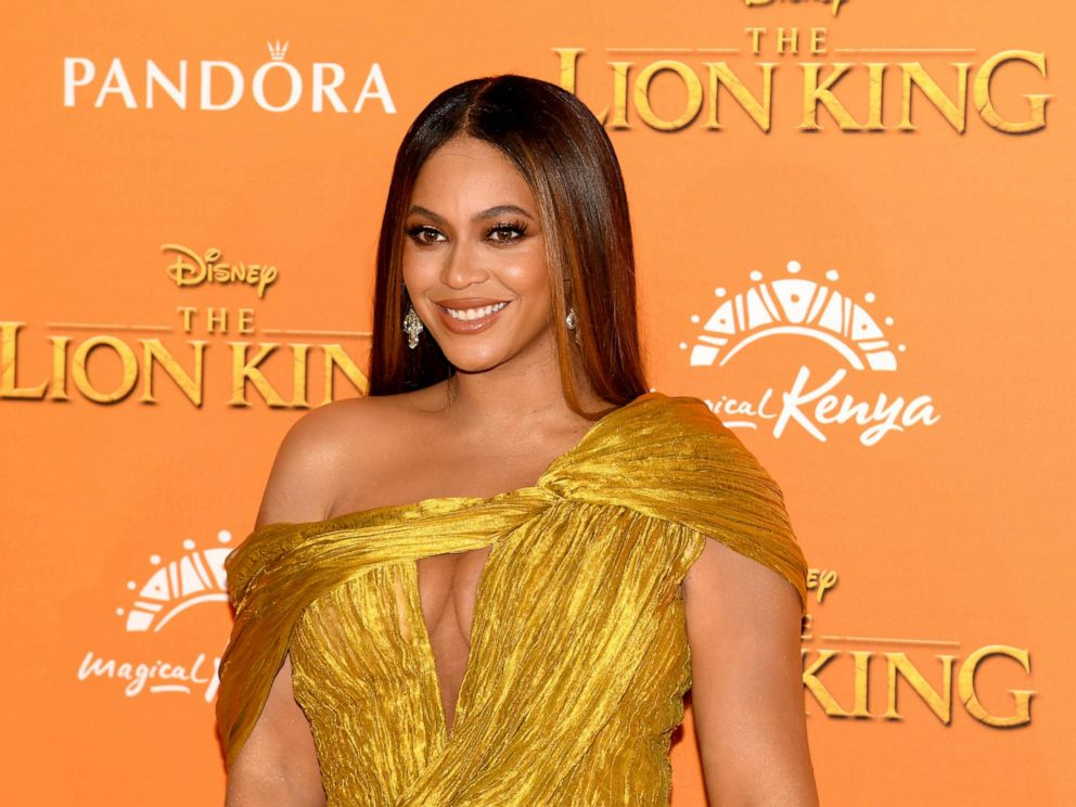PHOTO: Beyonce Knowles-Carter attends the European Premiere of Disneys The Lion King at Odeon Luxe Leicester Square, July 14, 2019, in London.