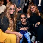 Beyonce, Blue Ivy Carter, and Tina Knowles attend the 67th NBA All-Star Game: Team LeBron Vs. Team Stephen at Staples Center, Feb. 18, 2018.