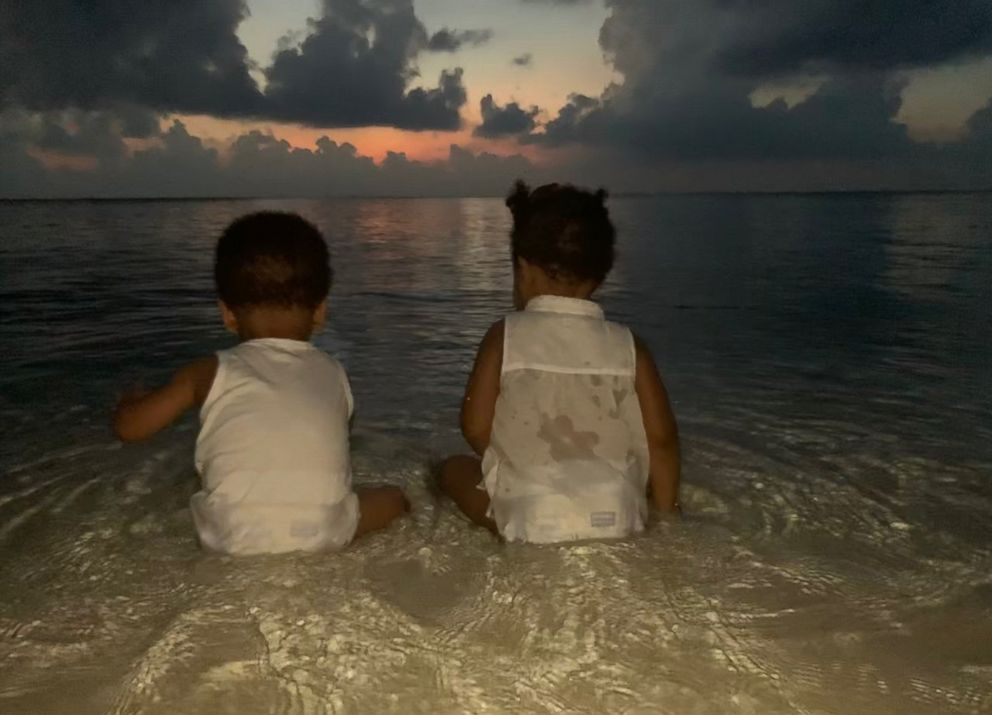 Beyonce posted this photo of her twins Sir Carter and Rumi to her website, beyonce.com.