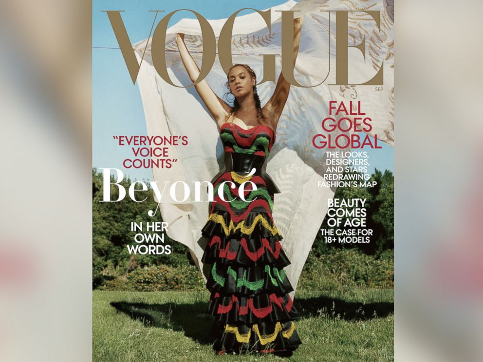 PHOTO: Beyonce appears on the September 2018 cover of Vogue magazine.