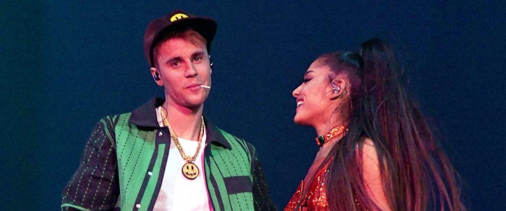 PHOTO: Justin Bieber performs with Ariana Grande at Coachella, April 21, 2019, in Indio, Calif.