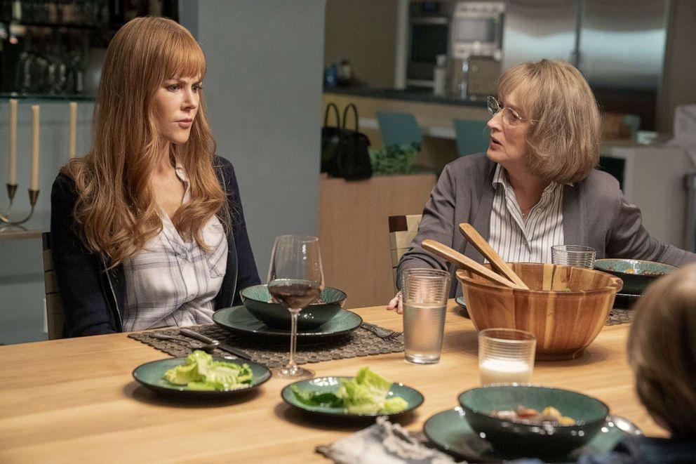 PHOTO: Nicole Kidman, left, and Meryl Streep in a scene from Big Little Lies.