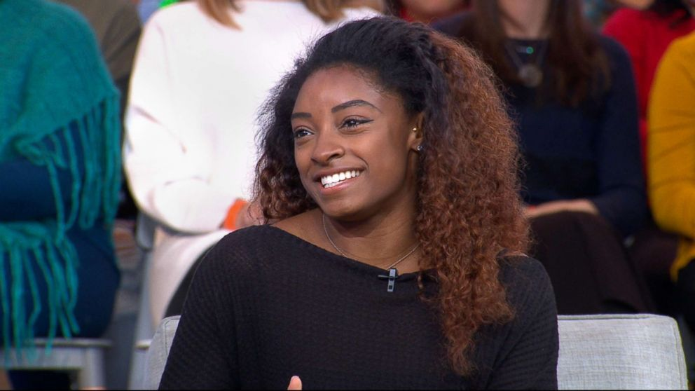 "Gymnast Simone Biles appears on ""Good Morning America,"" Dec. 11, 2018."